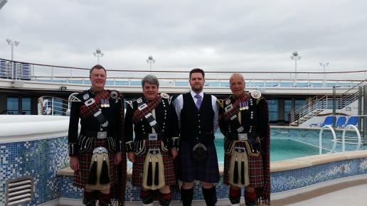 Davy Brown, Davy Elder, Ross Martin and Kenny.